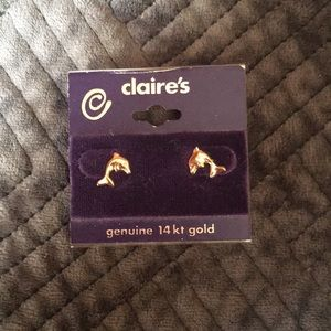 Claire's 14kt gold earrings